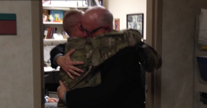 Sob-Worthy Video of Soldier Surprising Dad at Work Will Make You Grab the Tissues, Too