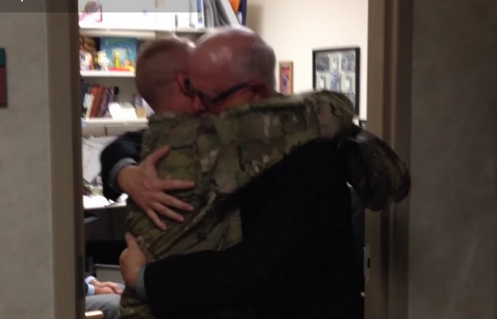Sob-Worthy Video of Soldier Surprising Dad at Work Will Make You Grab the Tissues