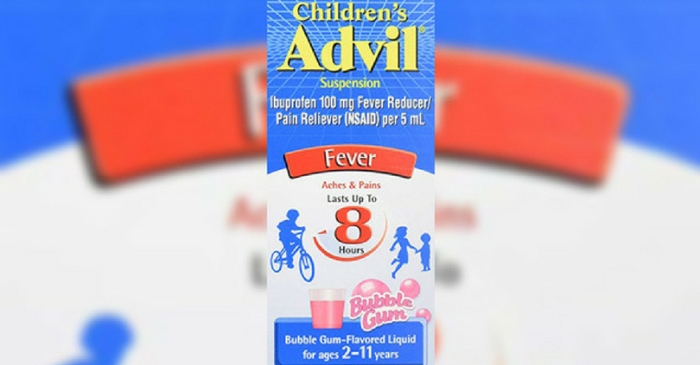Children's Advil Recalled Due To Possible Overdose Concerns