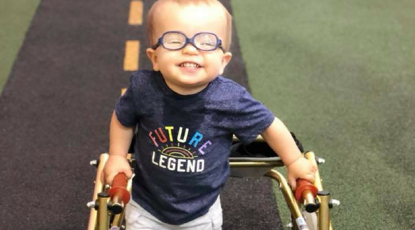 Toddler with Spina Bifida Takes First Steps Alongside His Furriest Friend