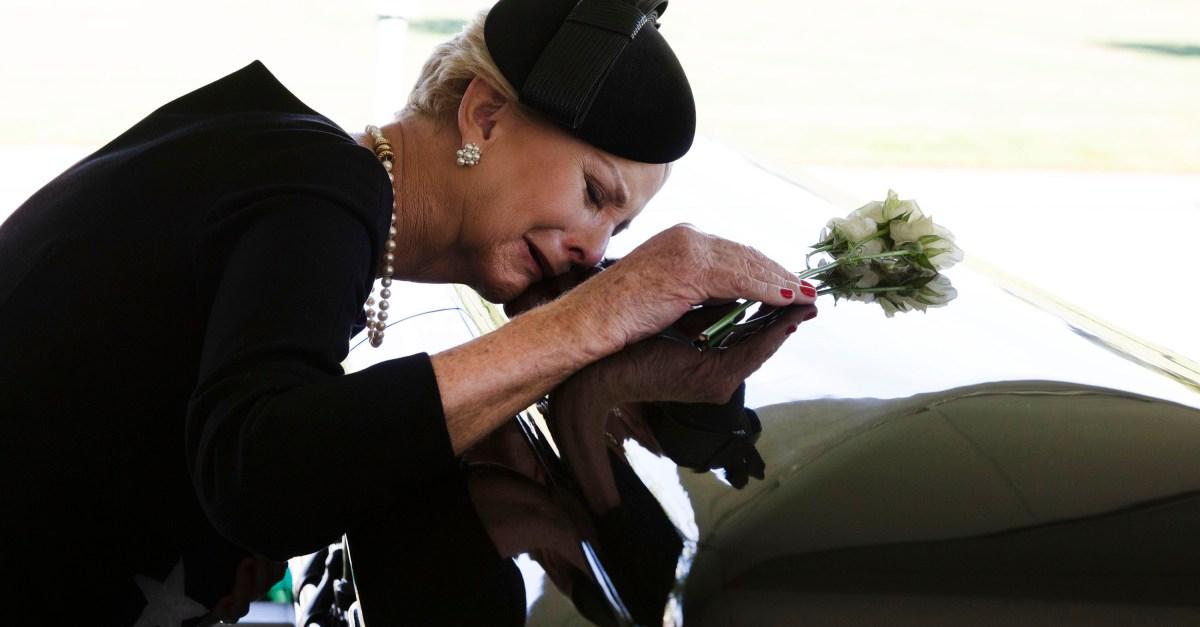 McCain Burial