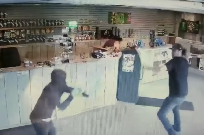 Watch This Store Clerk Fight Off Three Robbers With a Bong