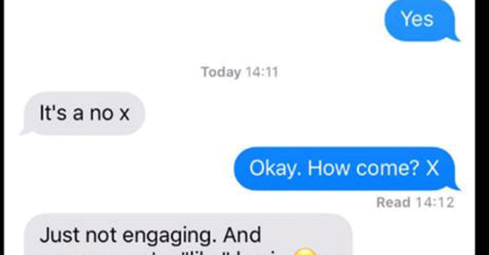 Instead of Waitress Job, Teen Received This Unprofessional, Rude Text