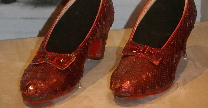 Stolen Ruby Slippers From 'The Wizard of Oz' Recovered by the FBI