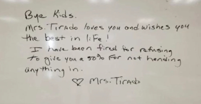 Teacher Fired for Refusing to Follow 'No-Zero' Grading Policy