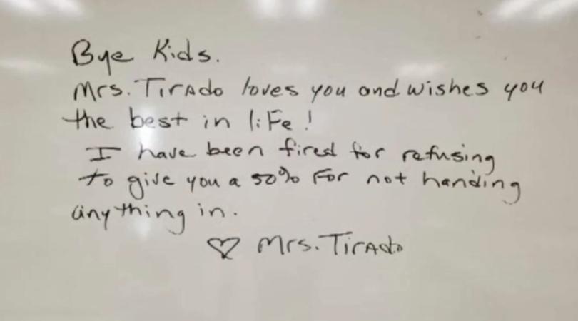 Teacher Fired For Refusing to Follow 'No-Zero' Grading Policy