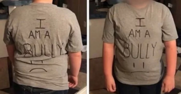 Mom Forces Son To Wear 'I Am a Bully' Shirt To School