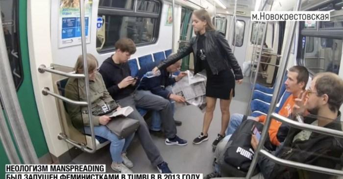 Russian Law Student Against 'Manspreading' Dumps Bleach on Men's Junk