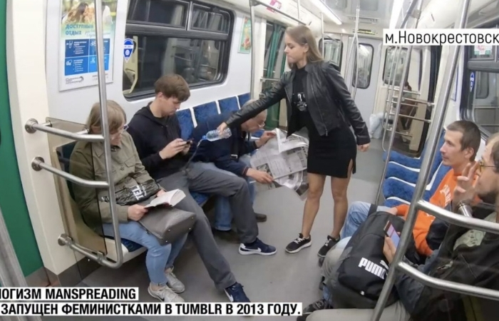 Russian Law Student Against 'Manspreading' Dumps Bleach on Men's Junk