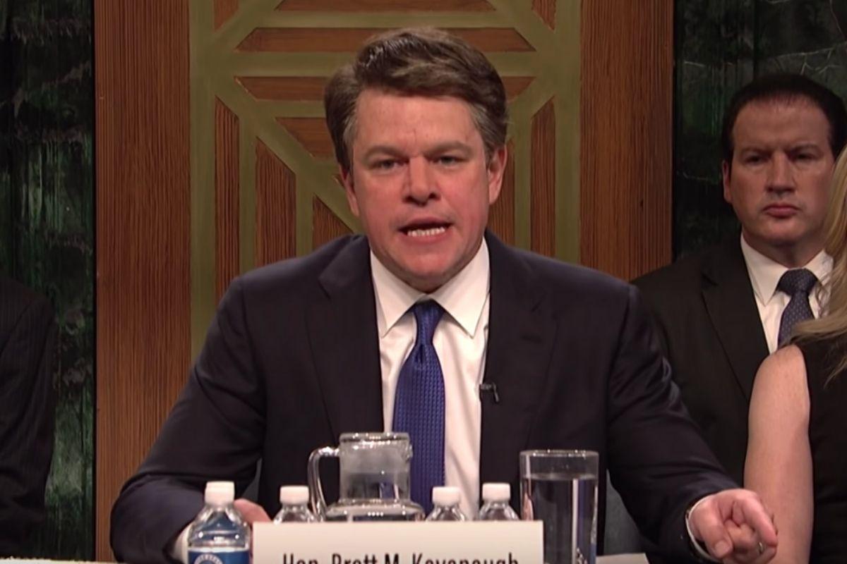 Watch Matt Damon Brilliantly Play Brett Kavanaugh on 'SNL'