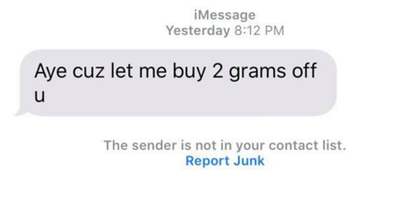Genius Texts Wrong Number for Drugs — It's the County Prosecutor