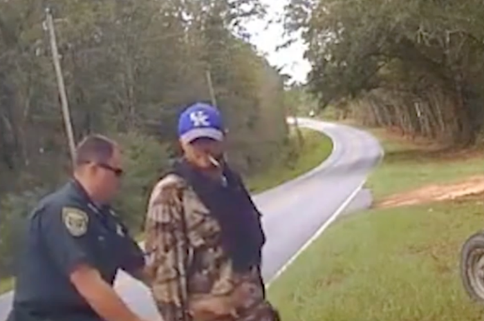 Police Dashcam Shows Florida Man Who Stole Tractor Get Tasered by Cop, Hit Ground Hard