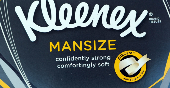 "Kleenex Forced to Rename Their ""Mansize"" Tissues Over Cries of Sexism"
