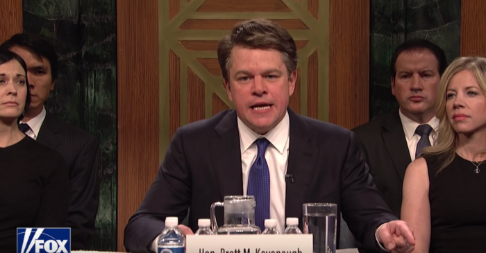 Watch Matt Damon Brilliantly Play Brett Kavanaugh on SNL