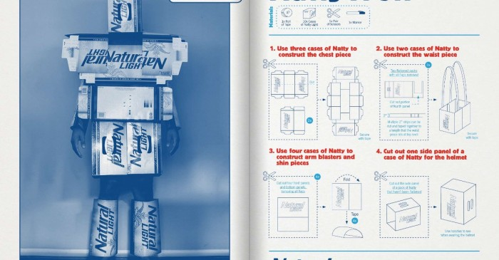 Turn Your Natural Light Beer Boxes into Creative Last-Minute Costumes