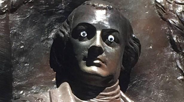 Pranksters Place Googly Eyes On Georgia Historic Monument