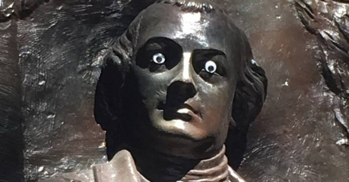 Pranksters Place Googly Eyes On Georgia Historic Monument