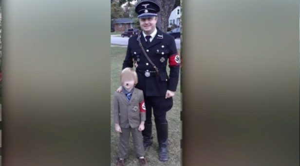 Dad Receives Backlash After Dressing Up 5-Year-Old As Hitler For Halloween