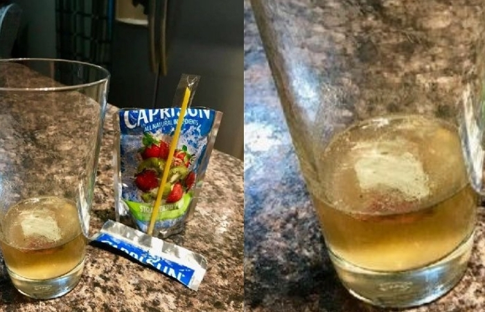 Dad Finds Mold-Like Substance Inside Son's Capri Sun