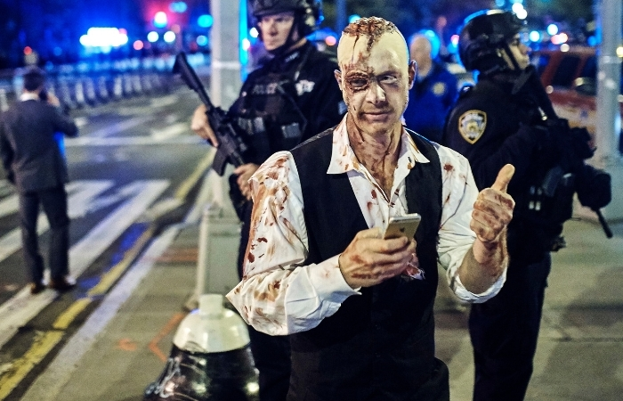 A Year After Terror Attack, Police Out in Force for NYC Halloween