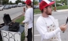 Man Barbecues Hot Dogs Next To Animal Rights Protest
