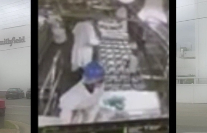 Watch: Meat Plant Worker Caught On Camera Urinating on Production Line