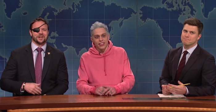 SNL's Pete Davidson and Former Navy SEAL, Texas Congressman Dan Crenshaw Make Up Live on TV