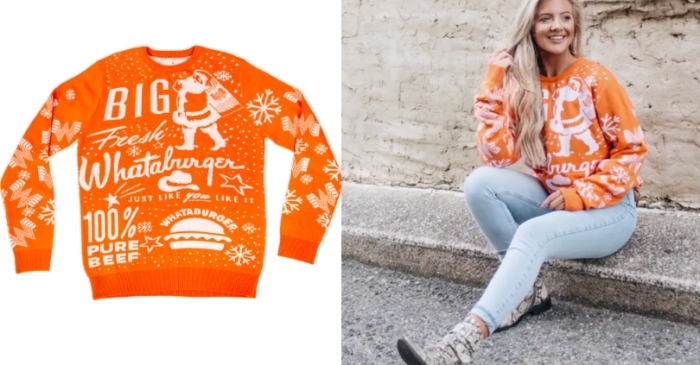 Whataburger Unveils New Christmas Sweater for 2019!