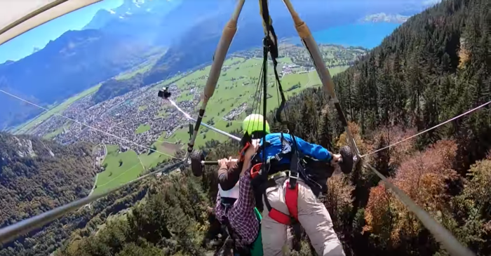 Man Hangs On for Dear Life After Glider Pilot Forgets to Strap Him In
