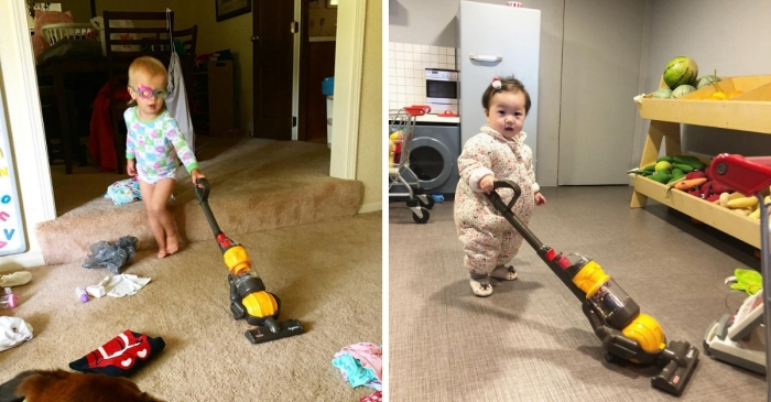 This Toy Vacuum Will Actually Clean Your House