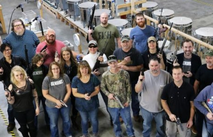 Company Gives Employees Handguns As Christmas Present
