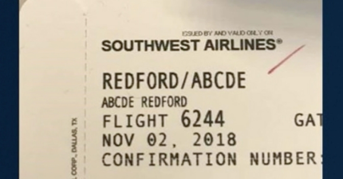 Southwest Employee Mocks 5-Year-Old's Name, Posts Boarding Pass Online