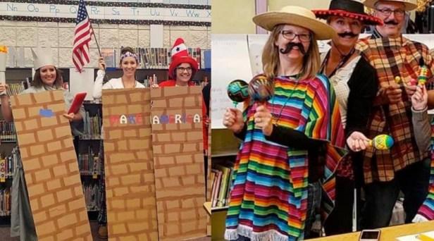UPDATE: Idaho Teachers Dressed As Border Wall Put On Administrative Leave