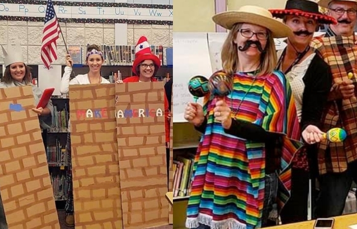 UPDATE: Idaho Teachers Dressed As Border Wall Put On Administrative Leave