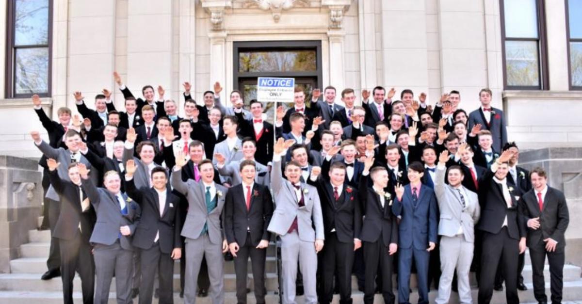 Wisconsin High School Nazi Salute