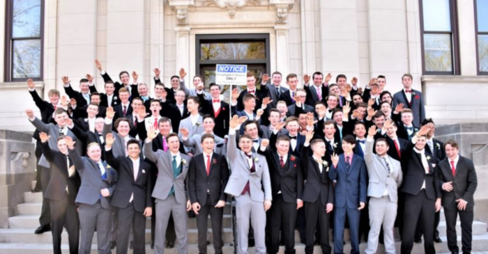 Wisconsin High Schoolers Throw Up Nazi Salute For Junior Prom Photo