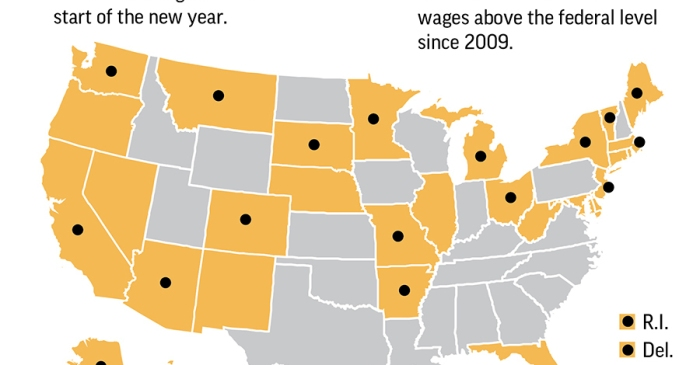 Here Are The States Raising the Minimum Wage This Year