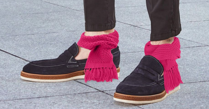 The Hottest New Winter Trend is…Ankle Scarves? Please God No