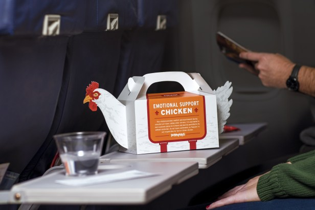 PETA Is Up in Arms Against Popeye's 'Emotional Support Chicken' Meal