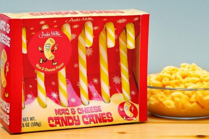 A Company is Selling 'Mac and Cheese Candy Canes' This Holiday Season