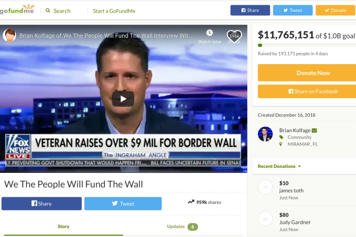 Amputee Vet's GoFundMe for Border Wall Has Raised Over $10 Million So Far