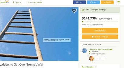 ladders to climb over Trump's Wall