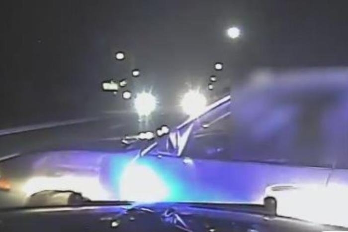 Police Officer Uses Car to Stop Sleeping Wrong-Way Driver