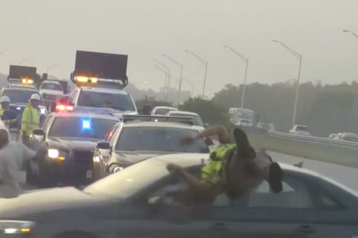 State Trooper Jumps in Front of Speeding Car to Save Civilian