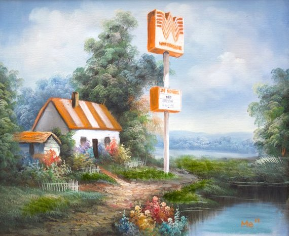 This Etsy Shops Sells Paintings of Texas Fast Food Joints in Beautiful Landscapes