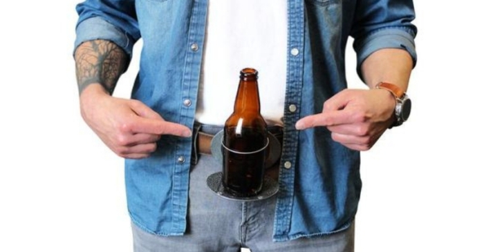 This Belt Buckle Holds Your Beer (And Your Pants) For You
