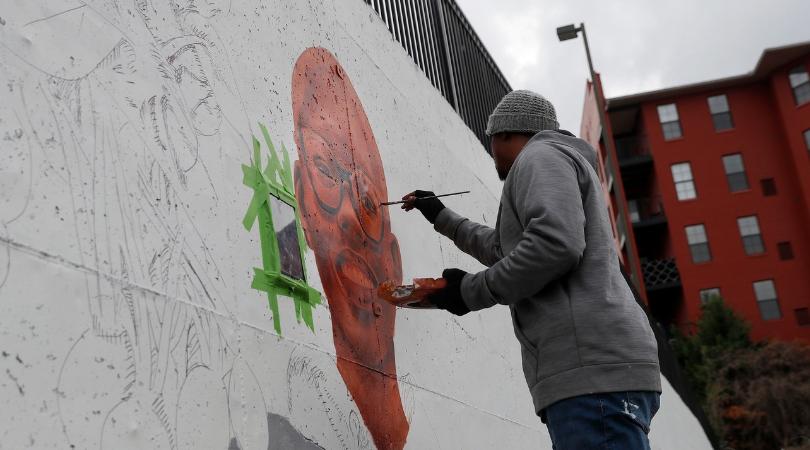 Murals Near Stadium Highlight Atlanta's Civil Rights Legacy