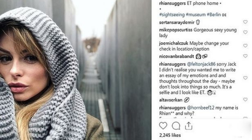 Model Receives Backlash After Posting Selfie at Holocaust Memorial