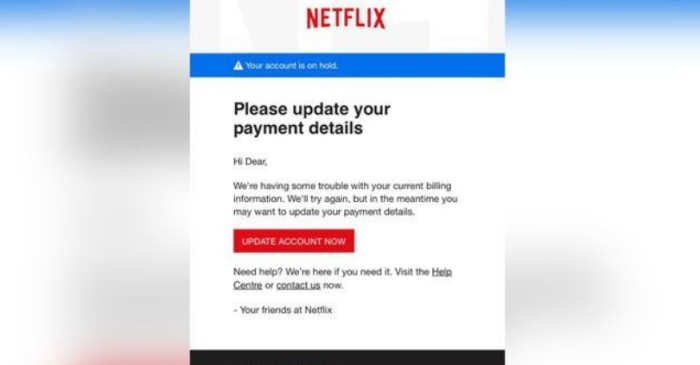 Police Warn of Scammers Posing as Netflix To Steal Personal Information