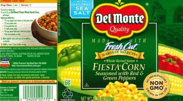 Del Monte Canned Corn Recalled in 25 States For Risk of Life-Threatening Illness